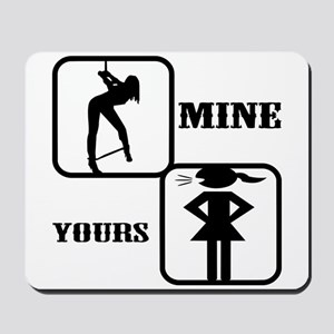 Your Girl vs Mine Mousepad